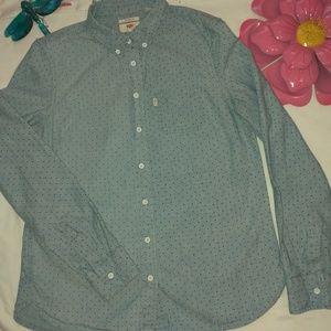 Levi's. Shirt blue color size xs.